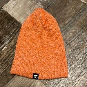 DC Orange knit beanie